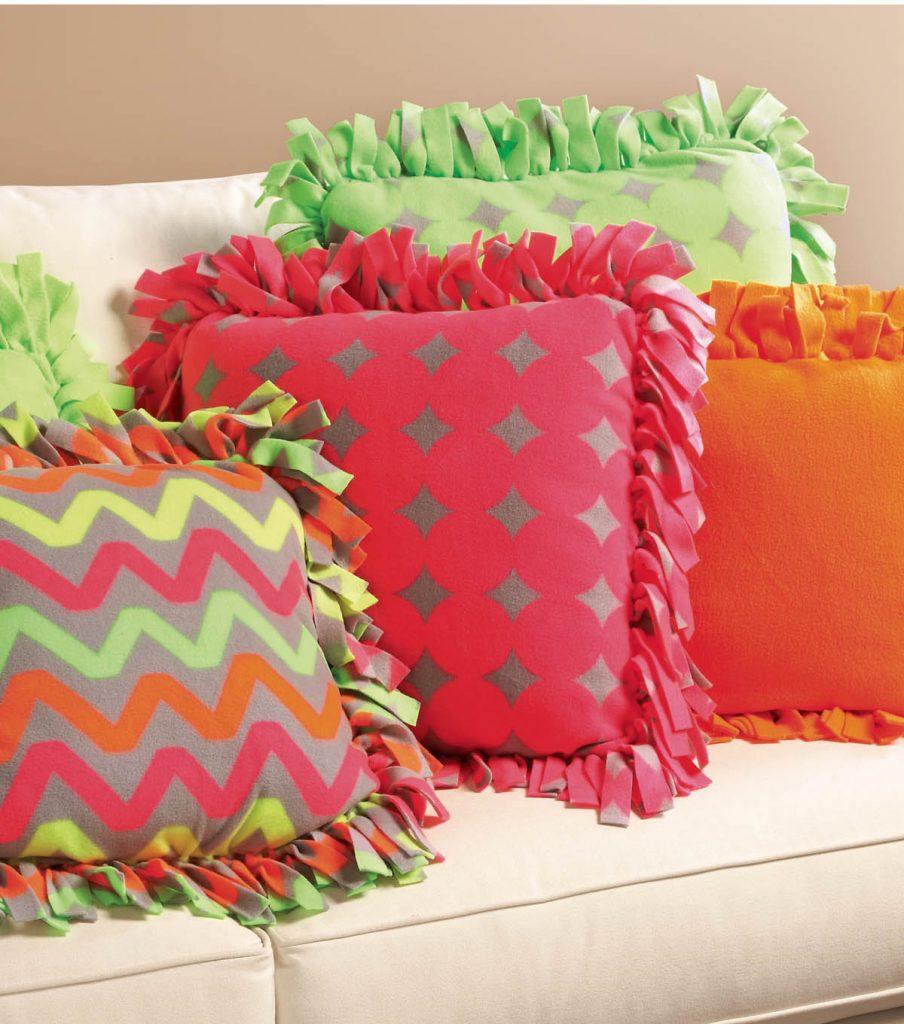Family Volunteer Day: No-Sew Fleece Pillows